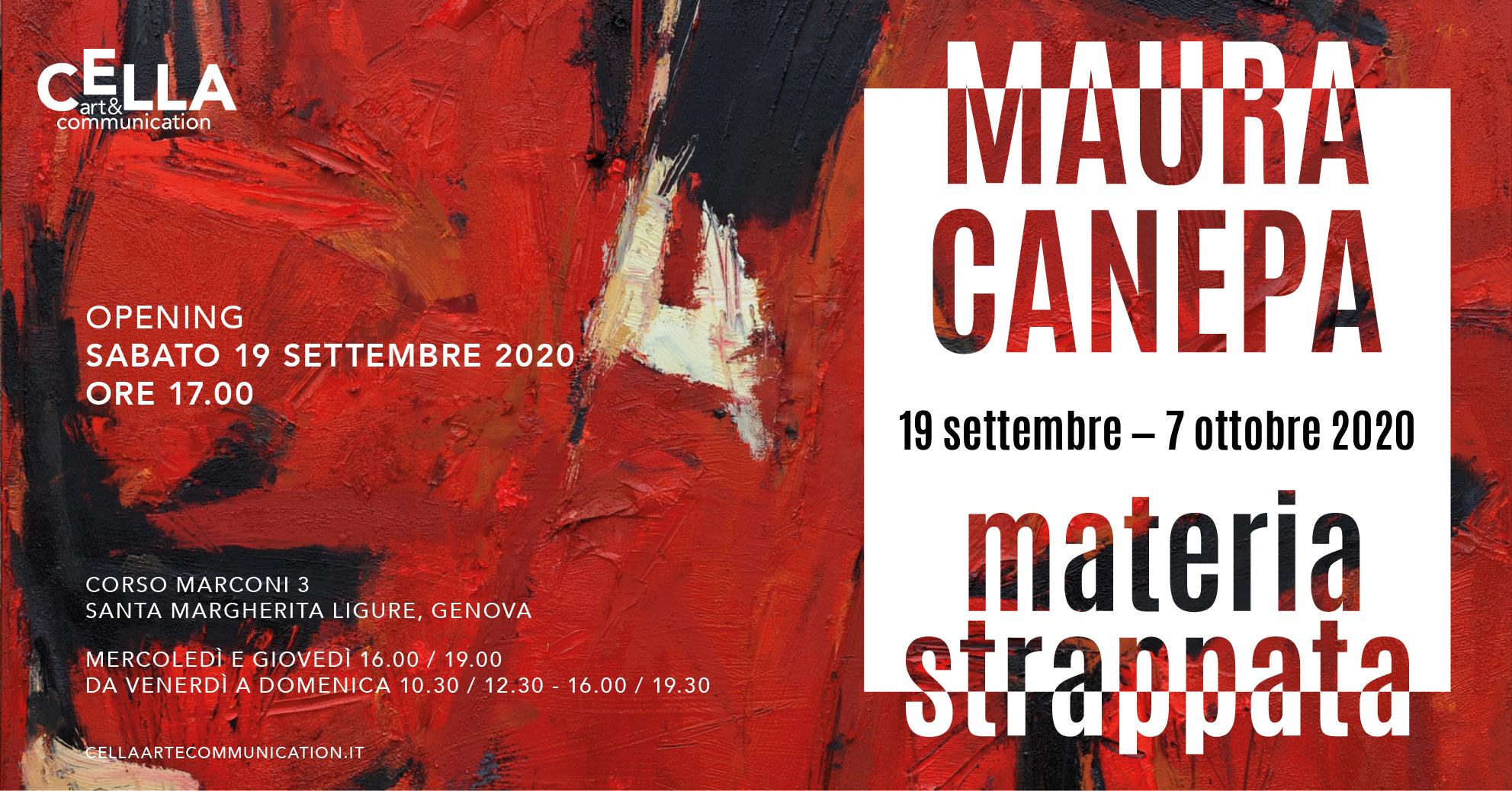 MAURA CANEPA – MATERIA STRAPPATA